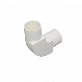 PVC32-CT -LINKCHIP 32mm Codo con Tapa para Tubo PVC Blanco
