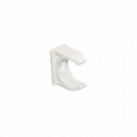 PVC32-A -LINKCHIP 32mm Soporte Fijacion Abrazadera p/Tubo PVC Blanco Tornillo