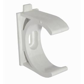 PVC40-A -LINKCHIP 40mm Soporte Fijacion Abrazadera p/Tubo PVC Blanco Tornillo