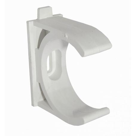 Tubo tipo Conduit LinkChip PVC40-A PVC40-A -LINKCHIP 40mm Soporte Fijacion Abrazadera p/Tubo PVC Blanco Tornillo