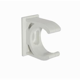 PVC25-A -LINKCHIP 25mm Soporte Fijacion Abrazadera p/Tubo PVC Blanco Tornillo