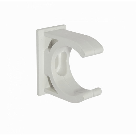 Tubo tipo Conduit LinkChip PVC25-A PVC25-A -LINKCHIP 25mm Soporte Fijacion Abrazadera p/Tubo PVC Blanco Tornillo