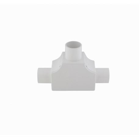 Tubo tipo Conduit LinkChip PVC20-TT PVC20-TT -LINKCHIP 20mm Tee con Tapa para Tubo PVC Blanco Derivacion en T