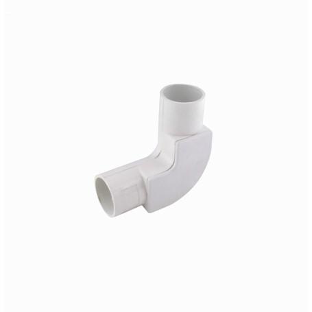 Tubo tipo Conduit LinkChip PVC20-CT PVC20-CT -LINKCHIP 20mm Codo con Tapa para Tubo PVC Blanco