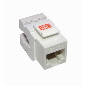 KP5WL-1 - LINKMADE 180º Blanco Cat5E U/UTP Punchable Keystone p/Herramient-KPT
