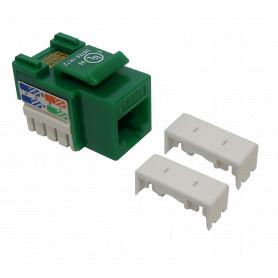 KP5VL - LINKMADE Verde Cat5E U/UTP Punchable Keystone Conector Hembra RJ45