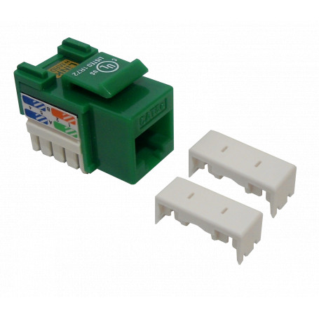 Cat5e Keystone Linkmade KP5VL KP5VL - LINKMADE Verde Cat5E U/UTP Punchable Keystone Conector Hembra RJ45