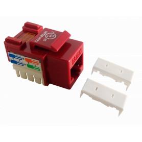 KP5RL - LINKMADE Rojo Cat5E U/UTP Punchable Keystone Conector Hembra RJ45