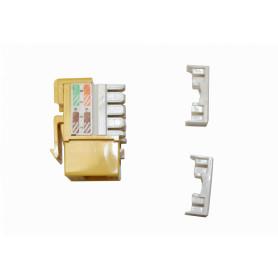 KP5ML - LINKMADE Amarillo Cat5E U/UTP Punchable Keystone Conector Hembra RJ45
