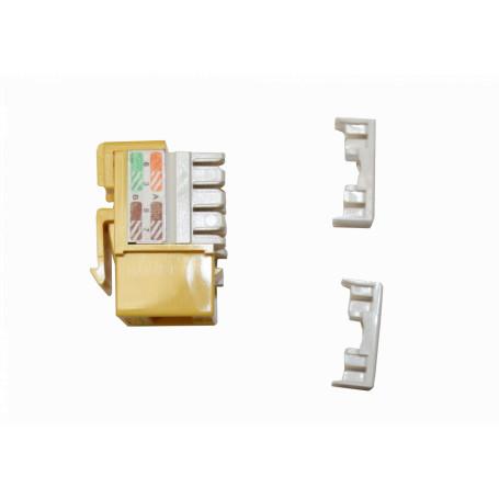 Cat5e Keystone Linkmade KP5ML KP5ML - LINKMADE Amarillo Cat5E U/UTP Punchable Keystone Conector Hembra RJ45