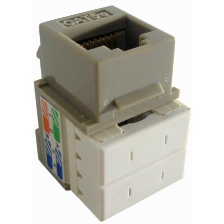 Cat5e Keystone Linkmade KP5GL KP5GL Gris Cat5E U/UTP Punchable Keystone Conector Hembra RJ45