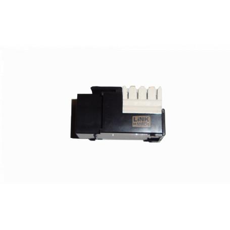 Cat5e Keystone Linkmade KP5NL KP5NL - LINKMADE Negr Cat5E U/UTP Punchable Keystone Conector Hembra RJ45