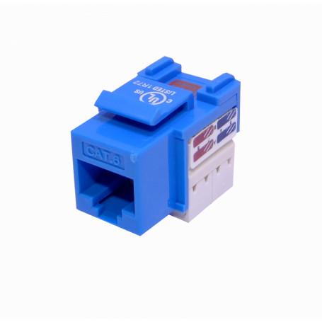 Cat6 Keystone Linkmade KP6AL KP6AL - LINKMADE Azul Cat6 U/UTP Punchable Keystone Conector Hembra RJ45
