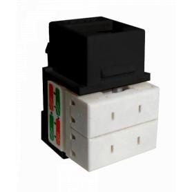 KP6NL -LINKMADE Negr Cat6 U/UTP Punchable Keystone Conector Hembra RJ45