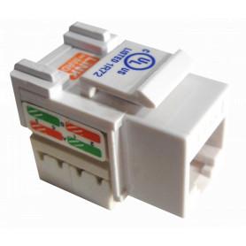 KP6WL - LINKMADE Blanco Cat6 U/UTP Punchable Keystone Conector Hembra RJ45