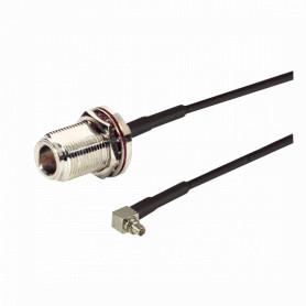 CA-MMNFBCN19 - L-COM 50CM MMCX N-HEMBRA LMR100 CABLE COAXIAL NEGRO