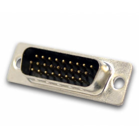 DB26-M -Macho DA-26 DB26 3-Filas 39mm 26-pin Conector Soldable s/Tapa HD26