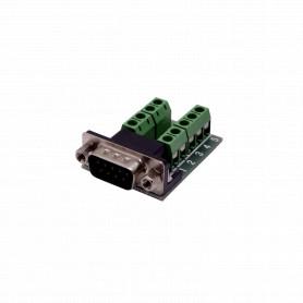 DGB9MT -Conector DB9-Macho DE-09/M Atornillable Terminal-Regleta req-FP1MV