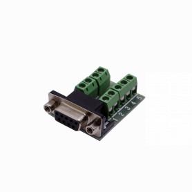 DGB9FT -Conector DB9-Hembra DE-09/H Atornillable Terminal-Regleta req-FP1MV