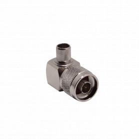 ANM-1406-90 -90-Grados LMR400 N-Macho Conector Crimpeable RG8 RG213