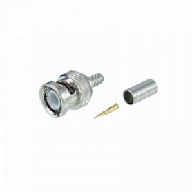 BNCM-CRIMP58 -Conector BNC-Macho Crimpeable para cable LMR195 RG58 RG142 RG223 RG400