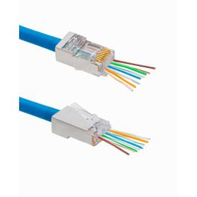 RJSEZ-50U -XINTYLINK EZ-RJ45 CAT5E STP FTP Bolsa 50 Conectores con/Orificios