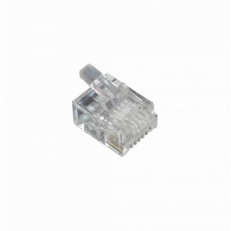 Rj9 Rj11 Rj12 Linkmade RJ12-10U RJ12-10U -LINKMADE 10-unids RJ12 6P6C Macho Conector Crimpeable RJ25