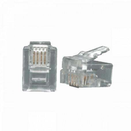 Rj9 Rj11 Rj12 Linkmade RJ11-10U RJ11-10U 10-unidades RJ11 6P4C Macho Conector Crimpeable