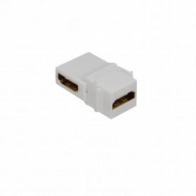 KHAL -HDMI Angular-90-grados Hembra-Hembra Keystone Blanco