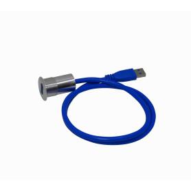 USB3-22MM -Panel-Diametro-M22mm Cabeza-28mm USB-AH USB3.0 Cable 60cm A-M Alt-34mm