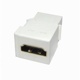 KHWL -HDMI Hembra-Hembra Keystone Blanco