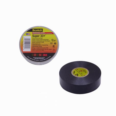 Aislante adhesivo / termo 3M company SUPER33 SUPER33 -3M Cinta Aisladora Dielectrica Vinilica PVC 19mm x 20mt x 0,178mm