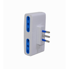 ELG-41 -Multiple 4 Enchufes sin cable 10A 250V 1500W Blanco