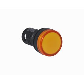 PILOTO-LED-B -Naranjo LuzPiloto LED 220VAC 20mm-diametro 28mm-cabeza 51mm-altura