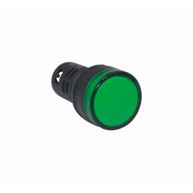PILOTO-LED-V -Verde Luz Piloto LED 220VAC 20mm-diametro 28mm-cabeza 51mm-altura