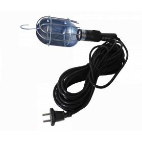 E27-10M - Lampara Portatil E27 cable-10mt Negro req-Ampolleta
