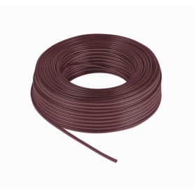 2X24CAFE -2x24AWG 2x0,2mm2 100mts Cable Cafe Marron Paralelo Multifilar