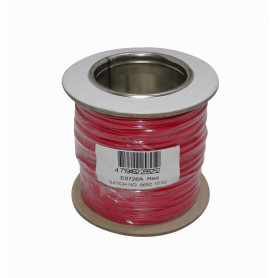 1X26R -Rojo 1x26awg 1x0,13mm2 100mt Cable Conductor Aislado Simple