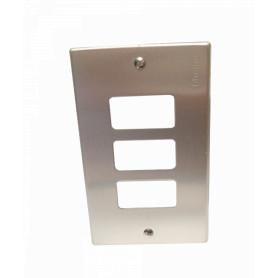 EBP503-3 -BTICINO Placa 3 Puestos Modulos Aluminio c/Tornillos