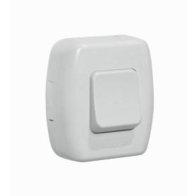 INTERRUPTOR -KALOP Boton Switch Sobrepuesto Blanco Tekna KS39658