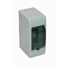 CAJA-DIN2 -KALOP 18mm-Ancho 46mm-Altura Caja Plastica para Automaticos Riel Din