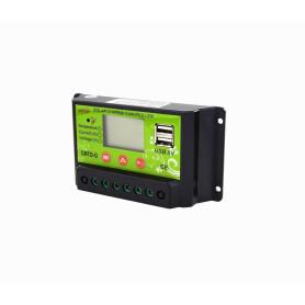 Inversores / Reguladores de carga Generico REG10A REG10A -12V/24V 10A Regulador Carga PWM Solar Eólico Basico 2x5V-USB