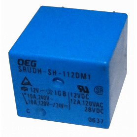 RELE12-2 -2-pin NA 10A-250VAC Rele Solenoide 12VDC Relay