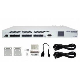 CCR1016-12S-1S+ - MIKROTIK 16-1.2G 1-SFP+10G 12-SFP USB RS232-DB9 inc/S-RJ01 2-220V L6
