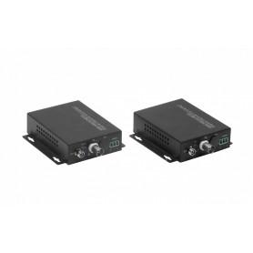 TV1-20KM -1-Canal 720p 960p FC BNC-H RS485 TX/RX SM 20km Fibra Optica CCTV TVI