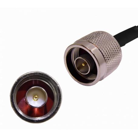 Cable coax armado TP-LINK TL-ANT100PT TL-ANT100PT - 100cm 1mt RPSMA-Macho N-Macho LMR195 Cable Coaxial Negro
