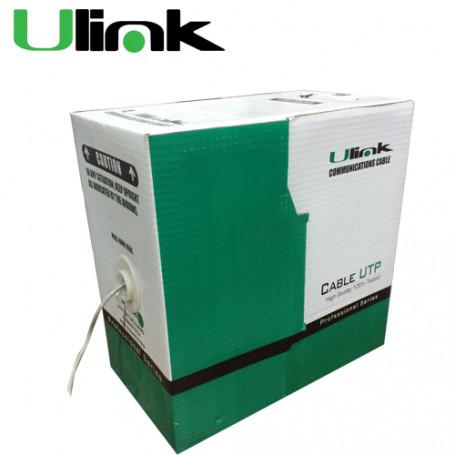 Unif. cat6 cobre Ulink CB6Q-UG3 CB6Q-UG3 ULINK 24AWG 0,52mm Cat6 PVC Gris Cable UTP 305mt Cobre