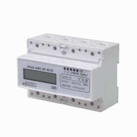 Medidor Trifasico 20(100)A 3x230/400VAC Volt Ampere Watt 50Hz RielDin