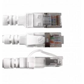 C6AW-20 LINKMADE 2mt Cat6a U/FTP Blanco LSZH Cable Patch Inyectado Multifilar