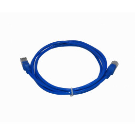 LXF 2mt Azul Cable Patch Cord Multifilar CCA Aleacion RJ45 inyectado